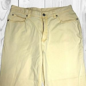 Chico's Jeans - 🛍Chico's 1.5  Yellow Straight Capri Jeans Pant